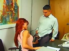 Secretary shemale seduces employee